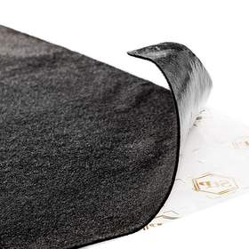 """Для стен StP Карпет самоклеющийся автомобильный лист """"Черный"""" 1,0 х 1,5"""
